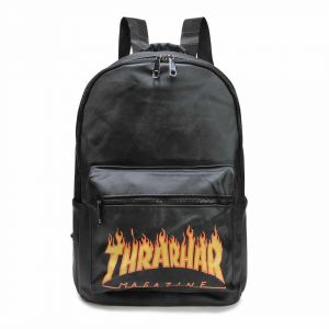 b24a1132c886 Thrasher Flame Backpack School Bag Fashion Traveling Bags Unisex Teenagers  student Satchel For Girl And Boy