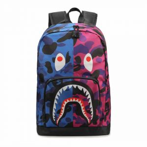 Bape Shark Backpack >> Bape Shark Backpack School Bag Fashion Traveling Bags Unisex