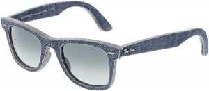 f33da18371 Ray-Ban Men s Wayfarer RB2140-116371-50 Blue Sunglasses