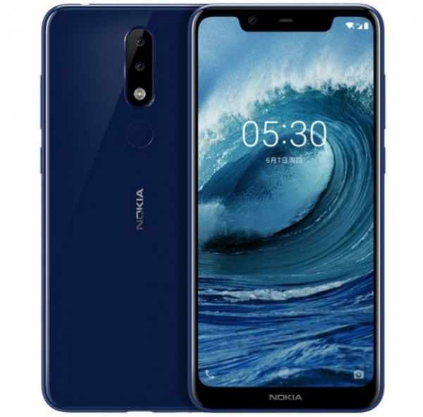 Nokia 5.1 Plus Dual SIM - 32GB, 3GB RAM, 4G LTE, Midnight Gloss Blue