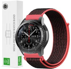 04a150d082a Mifan Official Nylon Loop Band for Samsung Gear S3 2018 Galaxy Watch 46mm  Replacement Strap 22mm Mesh Soft Breathable Woven Nylon Sports Wristband  Bracelet ...