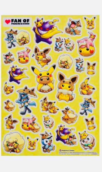 4dcc6b6fe93 Lets go pikachu and eevee sticker