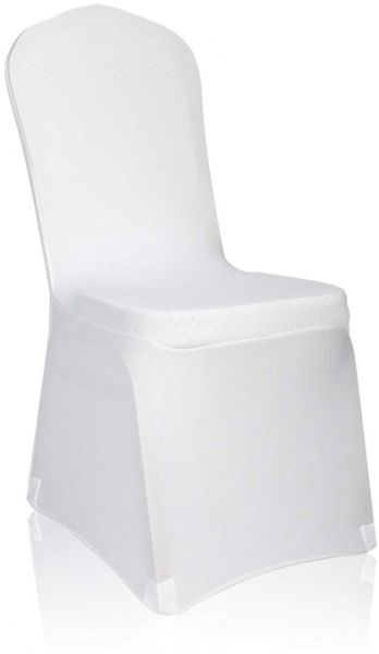 Set Of 10 Pcs White Color Banquet Wedding Party Chair Covers Hotel
