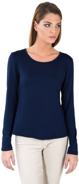 6614d363a6d1ae Miella Navy Blue Basic Solid Knit Top - Navy (TP7601-NVY)