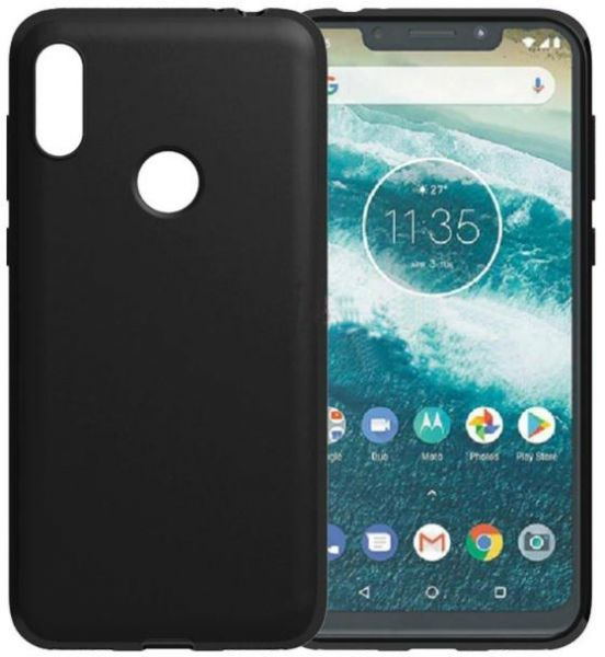 best sneakers 1bec8 da303 BACK COVER SILICONE For Motorola One P30 Play Black COLOR | Souq - Egypt
