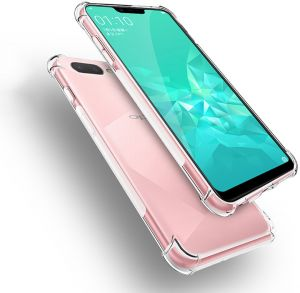OPPO A3S Crystal Clear Air Cushion Anti Crack Slim Case Cover