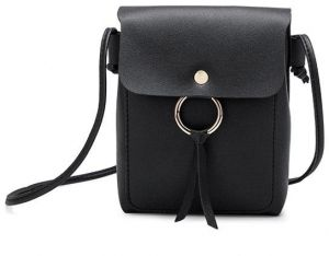 fa3a2195e6 SSYFashion Casual PU Black Crossbody Bags For Women Small Simple Shoulder  Bags