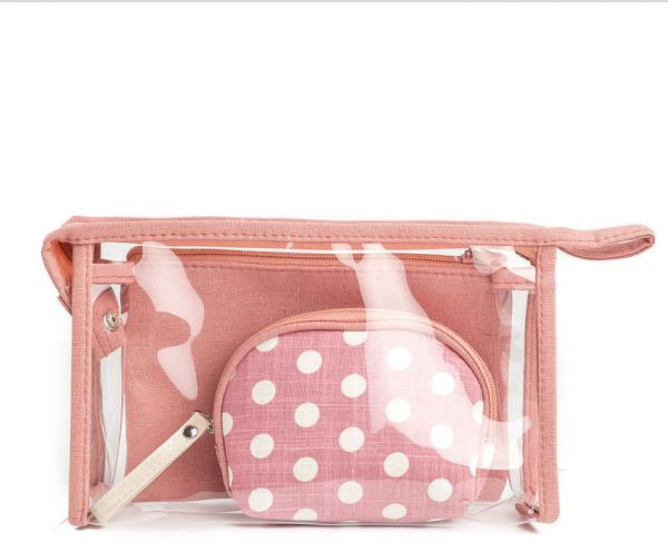 Simple Lovely travel women s wave point pattern transparent wash bag ... c1ad5939a