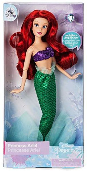a2ba8027a5 disney Store Ariel Classic Doll with Ring- The Little Mermaid- 11 1 2- 2018  Version
