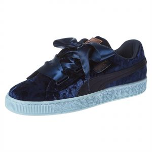 Details about Puma Basket Heart Infant Casual Sneakers Navy Girls