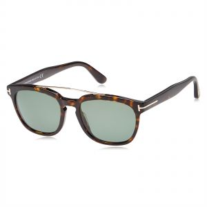 921ae719b35 Tom Ford Holt Wayfarer Unisex Sunglasses - Green Lens