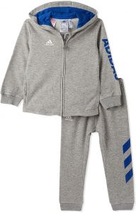 adidas Grey 3 Stripe Two Pieces Wear Set - 3 to 6 Months