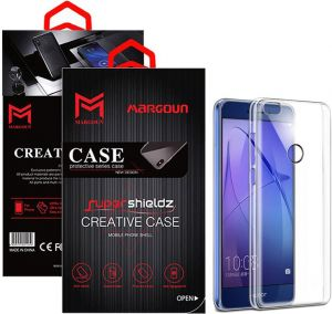 Margoun for Huawei P8 Lite 2017 Shieldz Case Soft Clear TPU Back Cover Protection Case - Transparent Clear