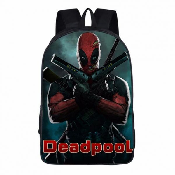 8c6096037852 Marvel Deadpool School Backpack Fashion Leisure Travel Large ...