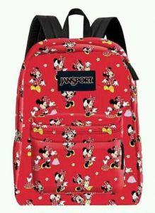 50478370fcb JanSport Disney Superbreak all over print Minnie Mouse Backpack