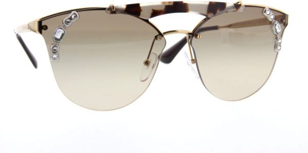 a8ae70b3fd60 PRADA ABSOLUTE ORNATE SPR 53US ivory havana pale gold light brown Sunglasses