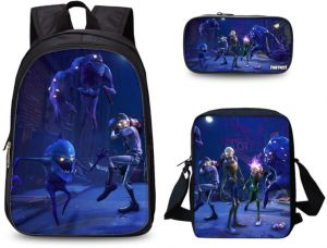 e7ff8e84a997 3PCS  set Printed Game Fortnite Backpack School Bags For Girls and boys  Travel Student