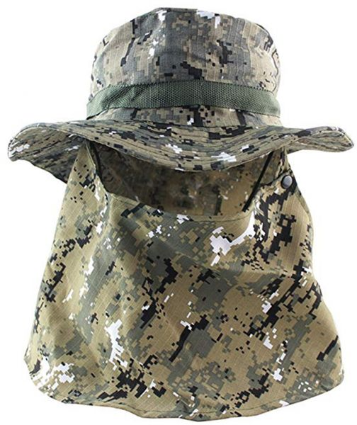 289192f7d69 Outdoor Hiking Camping UV Protection Face Neck Cover Fishing Cap Visor Hat  Neck Face Flap Hat Wide Brim Buckle