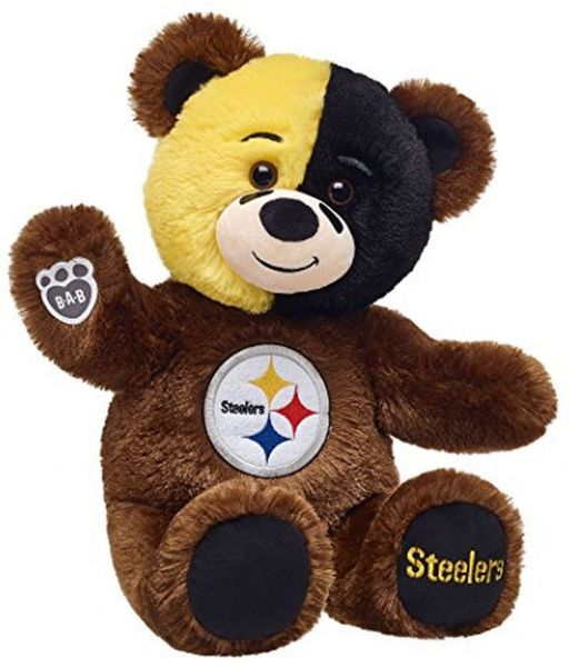 25a4da1008c Build A Bear Workshop Pittsburgh Steelers Teddy Bear Fan Set