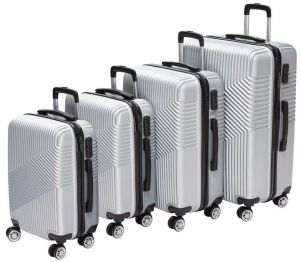 9a75ded09ba2 Passenger 4 pc Trolley Luggage Bags set 32 x 28 x 24 x 20 inches Silver