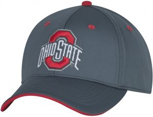 new product 577b4 fc926 NCAA Ohio State Buckeyes Adult Men Reved Up Structured Flex Cap,  Medium Large, Graphite Red