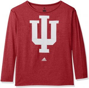 04da3ac8a adidas NCAA Indiana Hoosiers Womens Her Full Color Primary Logo L s Crew  Teeher Full Color Primary Logo L s Crew Tee