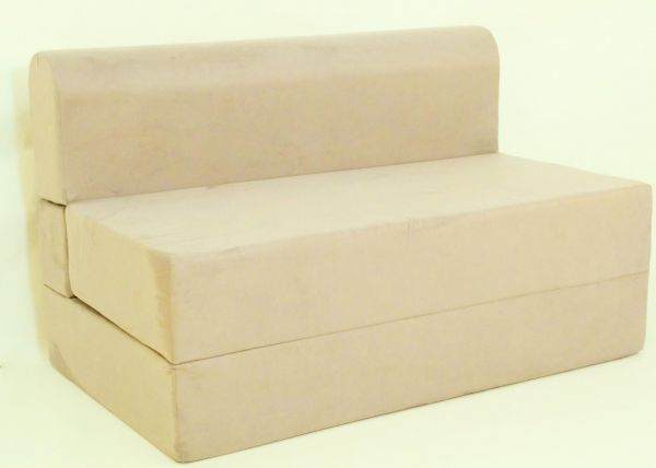 Fold Out Sofa Bed Zen Bed Size 120 X 190 X 20 Cm Beige Two