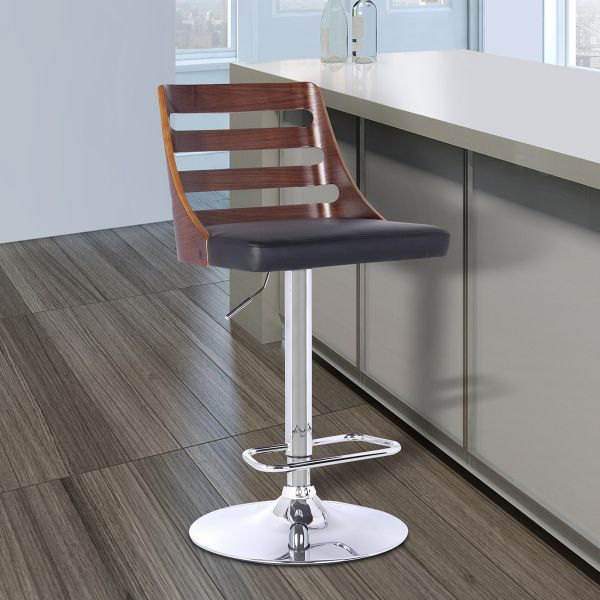 Amazing Armen Living Lcstbawabl Storm Barstool In Black Faux Leather Caraccident5 Cool Chair Designs And Ideas Caraccident5Info