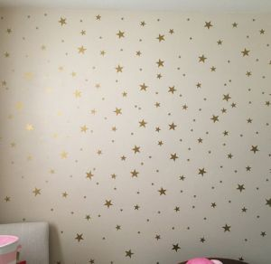 Stars Wall Decals 124 Stickers Removable Home Decoration Easy To L Stick Painted Walls Metallic Vinyl Polka Decor Sticker For
