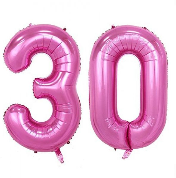 40inch Jumbo Rose Pink Foil Helium Digital Number Balloons Womens