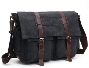 bdac05ed35 Shoulder Bag Men s Messenger Bags 16 Inches Vintage Military Canvas Laptop  Bag for Work and School Multiple Pocket