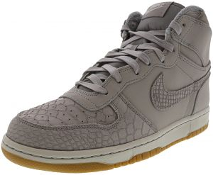best service 16d5b 278f7 Nike Men s Big High Lux Wolf Grey   - Pure Platinum High-Top Leather  Basketball Shoe 10.5M