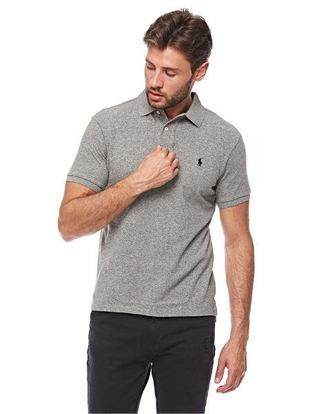 e006c1b322ea Polo Ralph Lauren Basic Mesh Polo T-Shirt for Men - Canterbury Heather