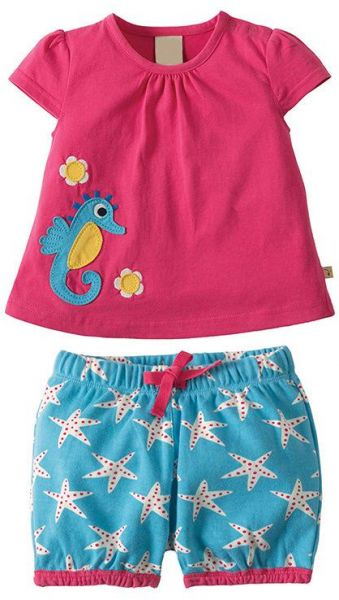6e40a0b00 Pitaya Baby Girl Clothes Summer Outfits Short Sets 2 Pieces with T-Shirt  and Short Pants