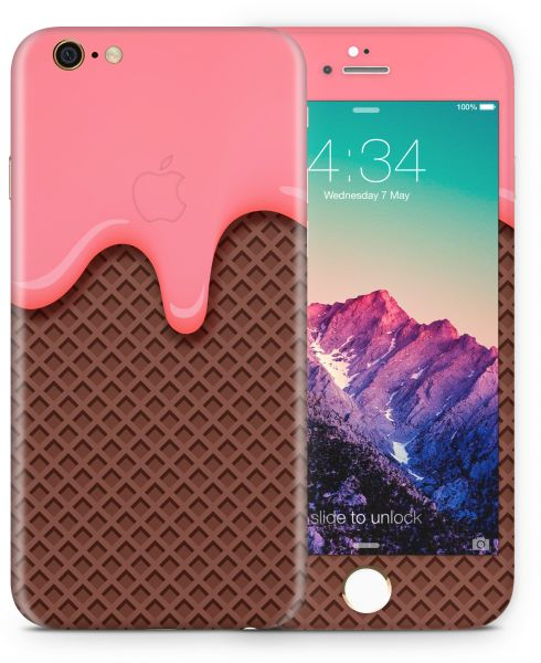 new concept a9fd9 3c002 IPhone 6 and 6S Skin - Pink and Brown Ice cream cone