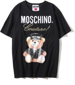 37576debe00e Moschino Black Winnie The Pooh Short Sleeve T-shirt Lady Tee White For  Women and Girl