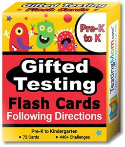 Gifted Testing Flash Cards- Following Directions for Pre-K- Kindergarten- Educational Practice for CogAT Test, OLSAT Test, ITBS, NYC Gifted and Talented, ...