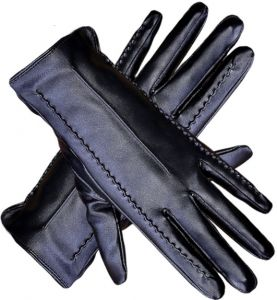 2f48f8a317e84 Leather Gloves Touchscreen Warm Plain Gloves- Touch Screen Texting for Phone