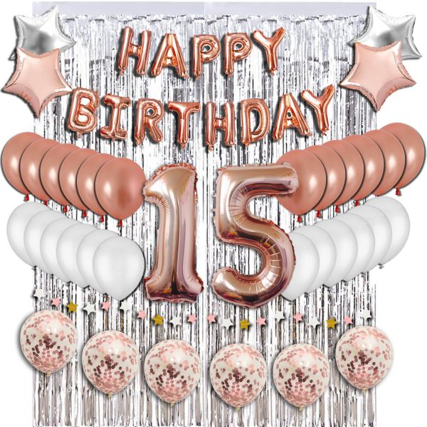 15th Birthday Decorations Party Supplies Sweet 15 Balloons