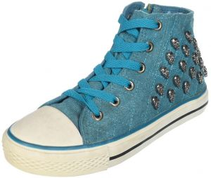 7d9a558a5e98 El Italya Side-Zip Boots Turquoise For Girls
