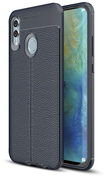 Huawei Honor 10 Lite Leather Skin Case Cover - Blue