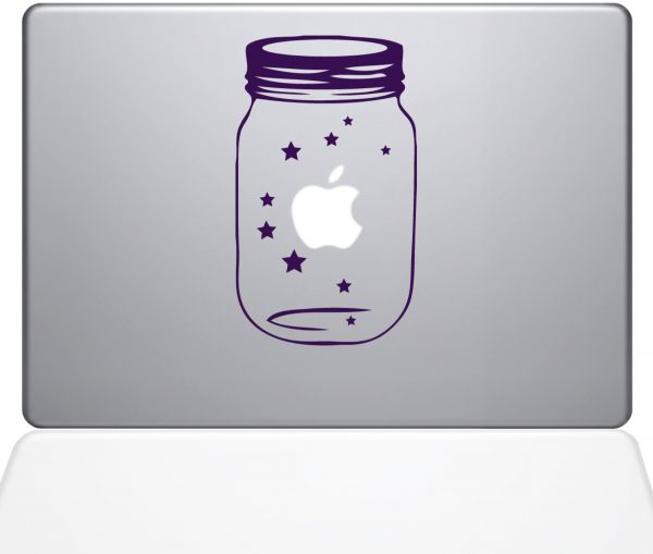 "The Decal Guru 0189-MAC-13X-LAV Lucky Star Vinyl Sticker, 13"" MacBook Pro ‫(2016 & Newer), Purple"