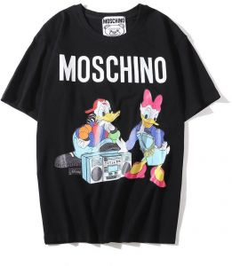2bf588277 Moschino Donald Duck Short Sleeve T-shirt Lady Tee White For Women and Lady