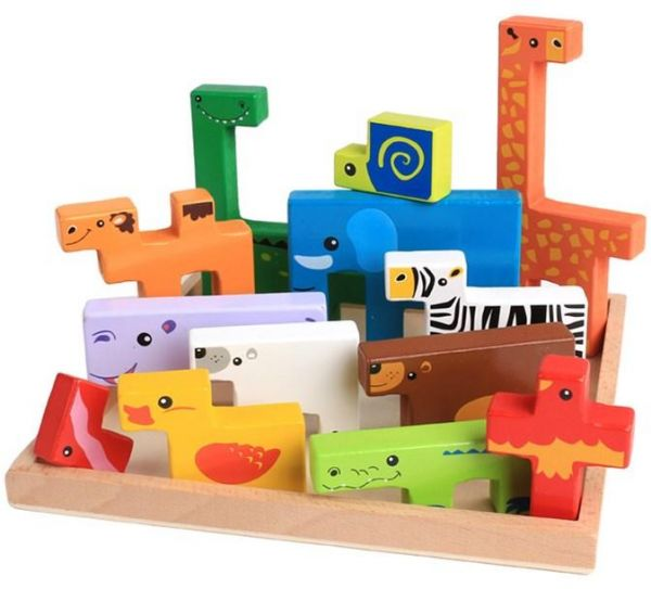 Challenging Animals Puzzle Toy Skills Development Early Education Learning Intelligence Thinking Puzzles Mind Fun Diy Gift Montessori Stem