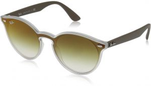 b434b54f757619 Ray-Ban 0rb4380n Non-Polarized Iridium Round Sunglasses, Matte TRASPARENT,  0 mm