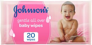 Johnson's Wipes Gentle All Over, Pack Of 20 Wipes