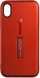 Personality Back Cover With Stand For Apple Iphone XR , Red