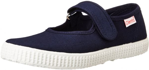 a6a0b2ce9aaefa Cienta Mary Jane Sneakers for Girls - Navy Casual Shoes with Adjustable  Strap