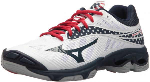 best loved 9a754 68f4f Mizuno Women s Wave Lightning Z4 Volleyball Shoe, White Navy Red, Women s 6  B US   KSA   Souq