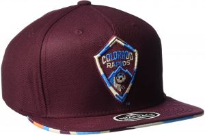 542d1210597 MLS Colorado Rapids Adult Men MLS SP17 Fan Wear Box Pattern Flat Brim  Snapback